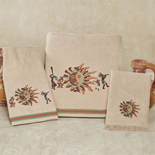 Southwest Sun Bath Towel Set Wheat Bath Hand Fingertip