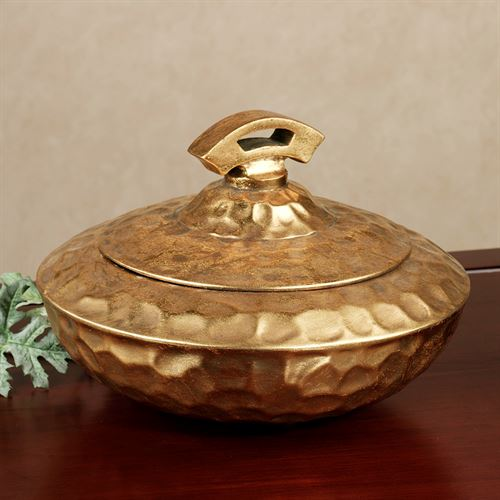 Alarice Covered Bowl Gold
