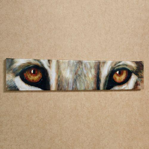 Lion Eyes Canvas Art