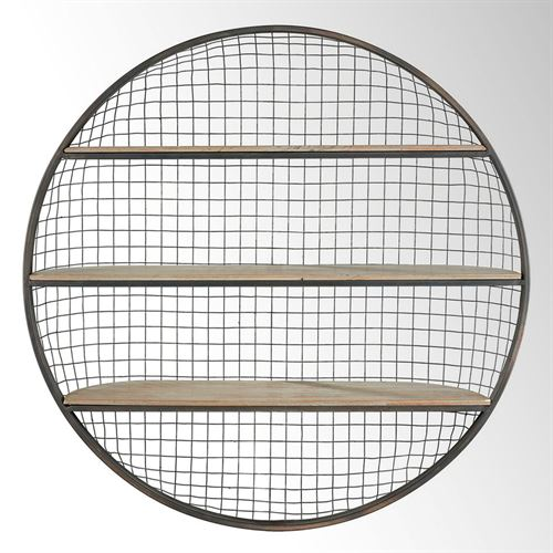 Finnick Round Wall Display Shelf Gray