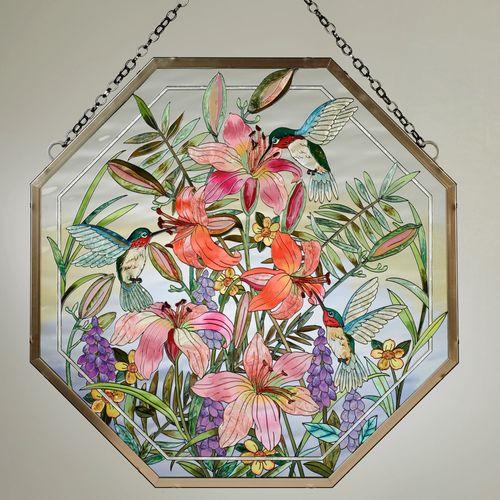 Daylilies and Associates Window Art Panel Multi Jewel
