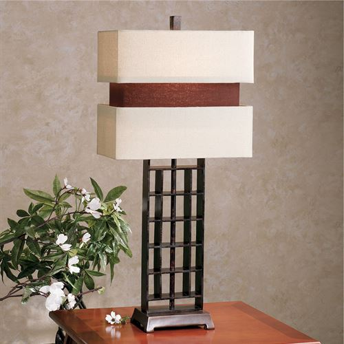 Contours Table Lamp Bronze Each with CFL Bulb