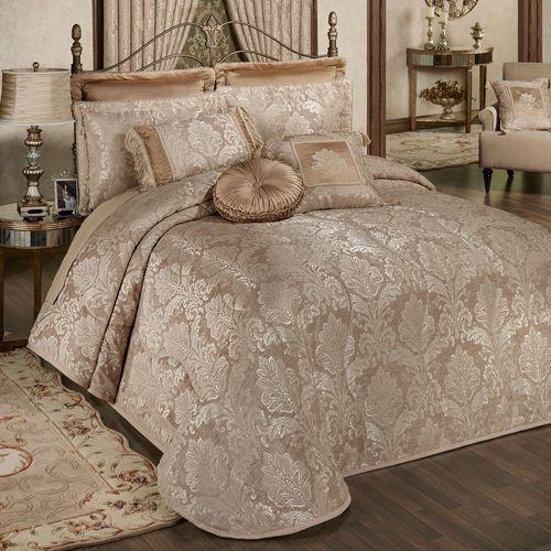 Camelot Grande Bedspread Almond
