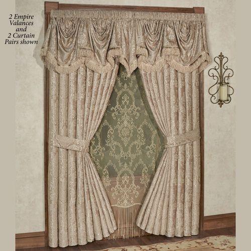 Camelot Empire Valance Almond 110 x 28