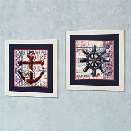 Sailors Life Framed Wall Art Multi Warm Set of Two