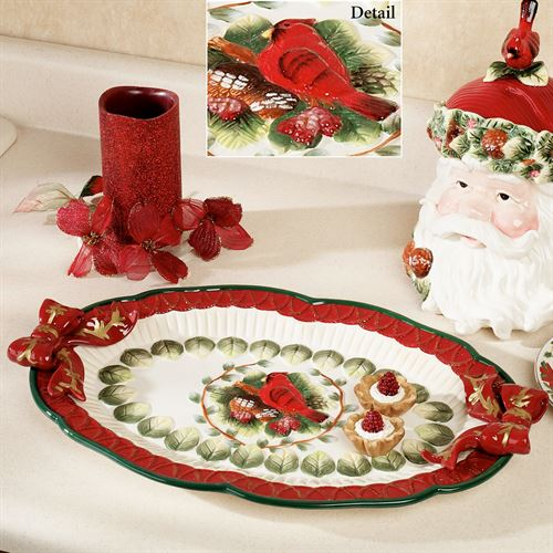 Cardinal Serving Tray Red
