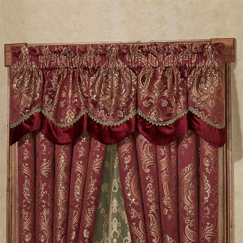 Courtland Scalloped Valance Cordovan 72 x 18