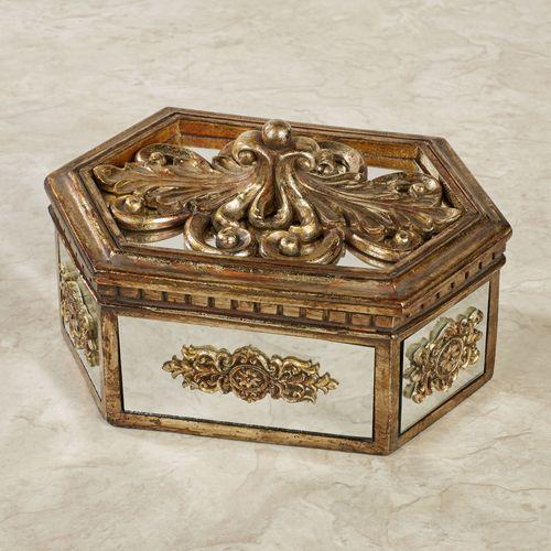 Brya Mirrored Covered Box Venetian Gold