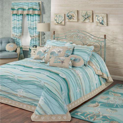 Seaview II Grande Bedspread Light Blue