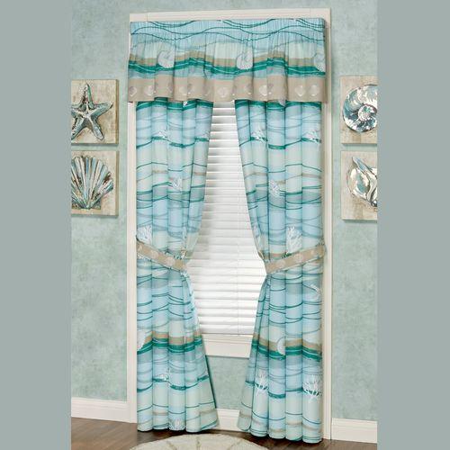 Seaview II Tailored Valance Light Blue 72 x 18