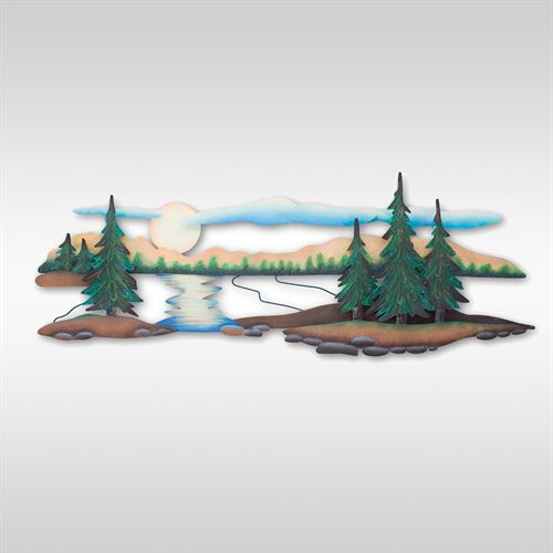Pine Lake Wall Art Sculpture Green