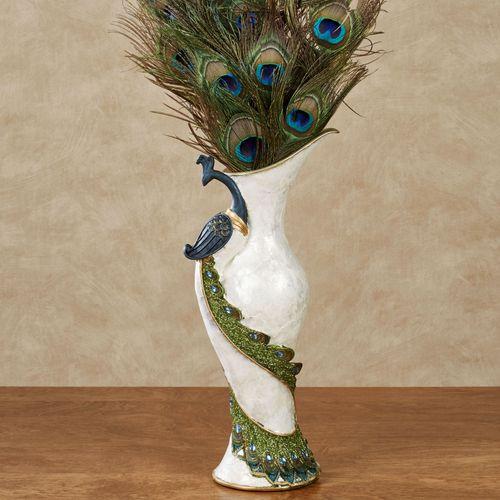 Elegant Peacock Table Vase Multi Cool