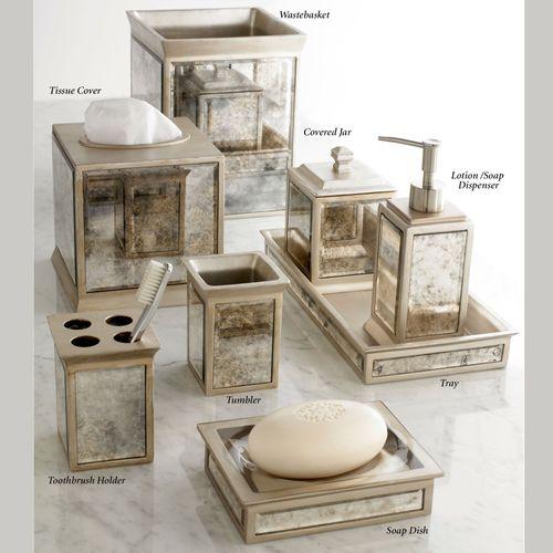 Palazzo Lotion Soap Dispenser Antique Silver
