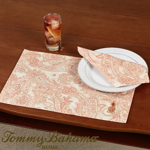 East India Paisley Placemats Light Cream Set of Four