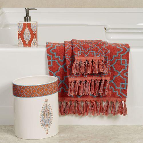 Kaiya Bath Towel Set Sunset Bath Hand Fingertip