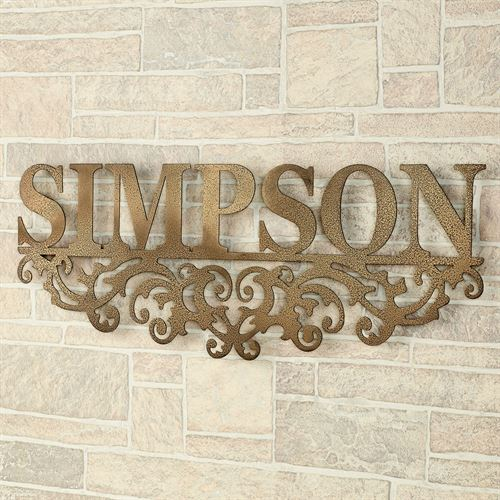 Wonderful Kinship Name Metal Wall Art Sign Antique Gold