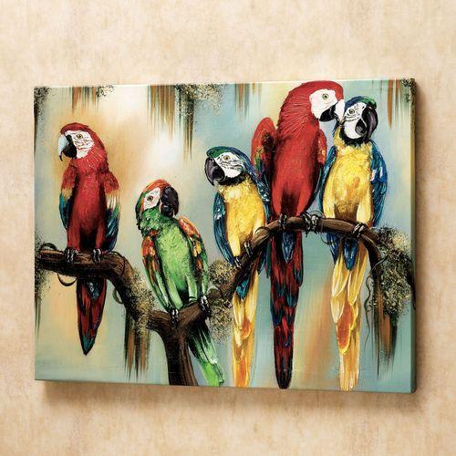 Feathered Curiosity Canvas Art