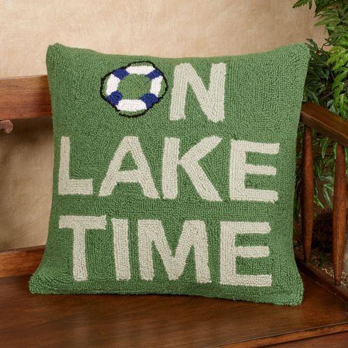 On Lake Time Decorative Pillow Multi Cool 18 Square