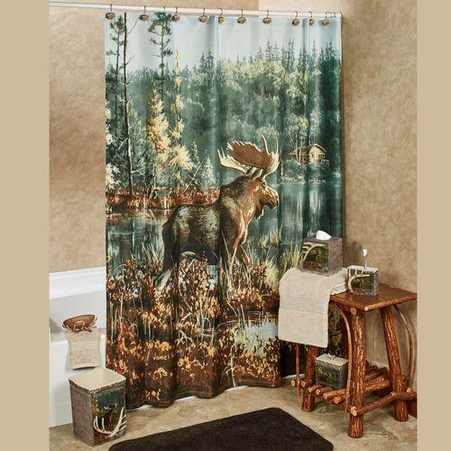 Hautman Brothers Back Bay Moose Shower Curtain
