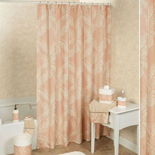 Pineapple Paradise Shower Curtain Blush 72 X