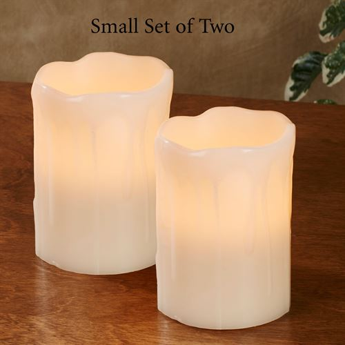 Drip Edge Small LED Candles Ivory