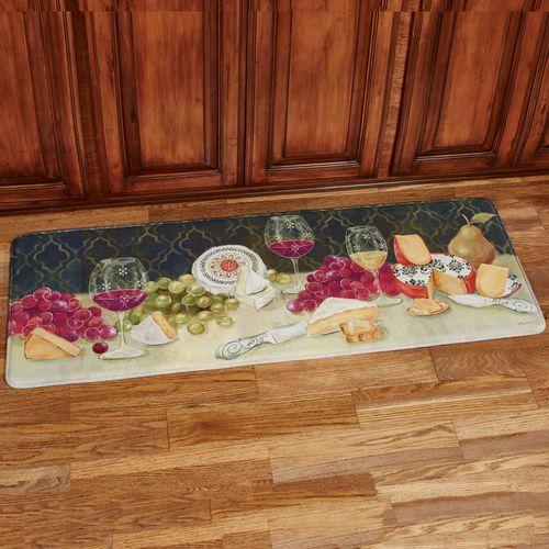 Cheese with Wine Runner Mat Multi Warm 55 x 20