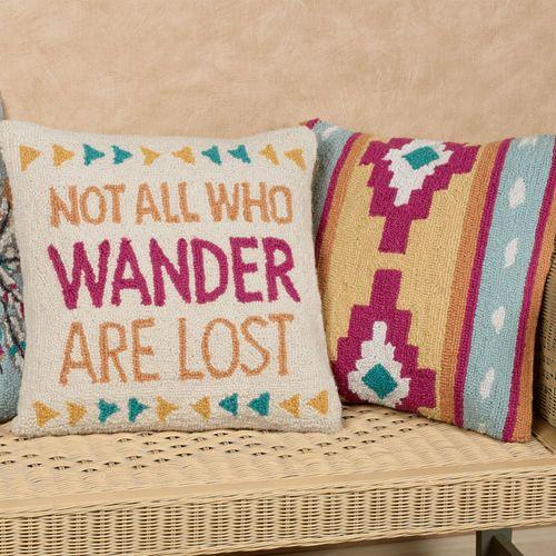 Headdress Rectangle Decorative Pillow Multi Cool 14 x 18