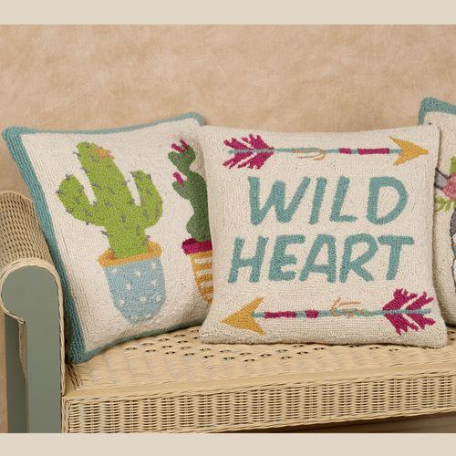 Potted Cacti Decorative Pillow Multi Cool 16 Square