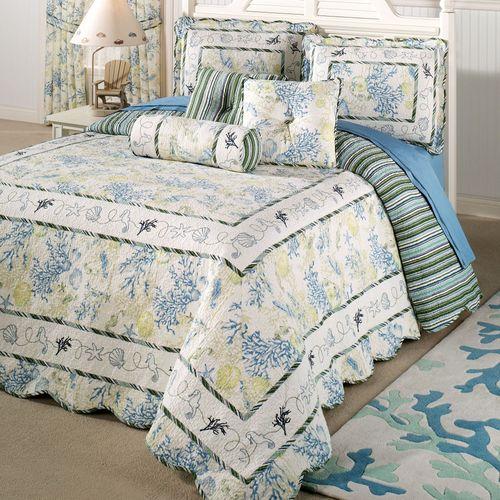 Ocean Treasures Grande Bedspread Blue