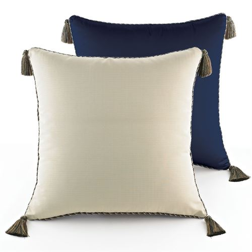 Hannah Piped European Sham Dark Blue