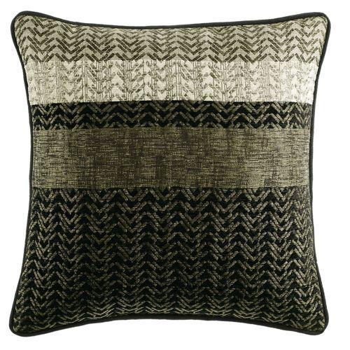 Portland Piped Square Pillow Black 18 Square