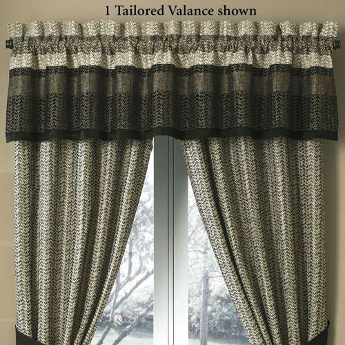 Portland Tailored Valance Black 88 x 17