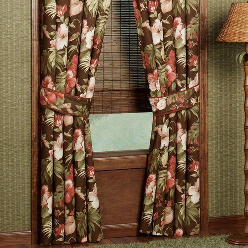 Cabana Tailored Curtain Pair Cocoa 84 x 84