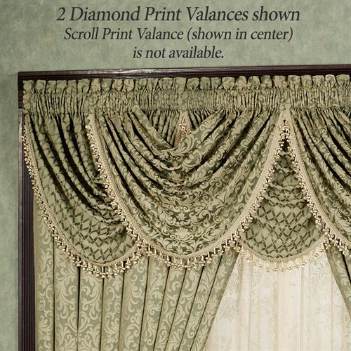 Aberdeen Diamond Waterfall Valance