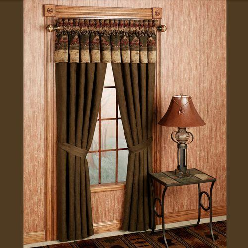 Sierra Curtain Pair with Valance  120 x 84