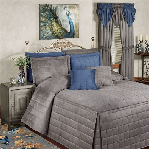 Camden Grande Fitted Bedspread Charcoal