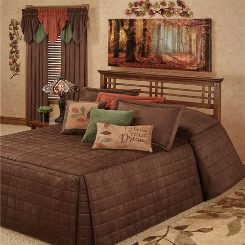 Camden Grande Fitted Bedspread Chocolate