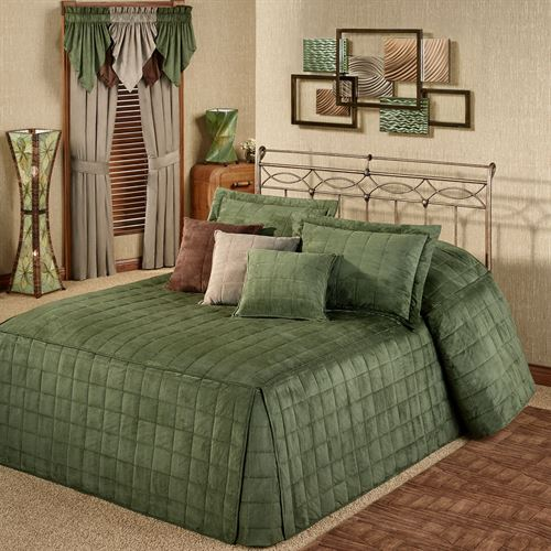 Camden Deep Sage Grande Oversized Fitted Bedspread Bedding