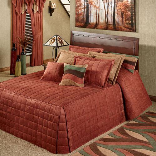 Camden Grande Fitted Bedspread Russet
