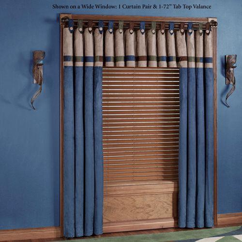 Alliance Tab Top Curtain Pair Indigo 84 x 84