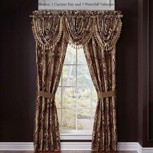 Bradney Tailored Curtain Pair Multi Warm 82 x 84