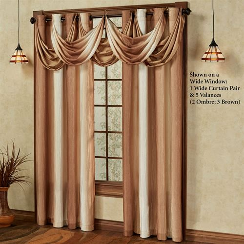 Mirage Wide Grommet Curtain Pair Sienna Brown 108 x 84