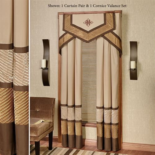 Delta Grommet Curtain Pair Bronze
