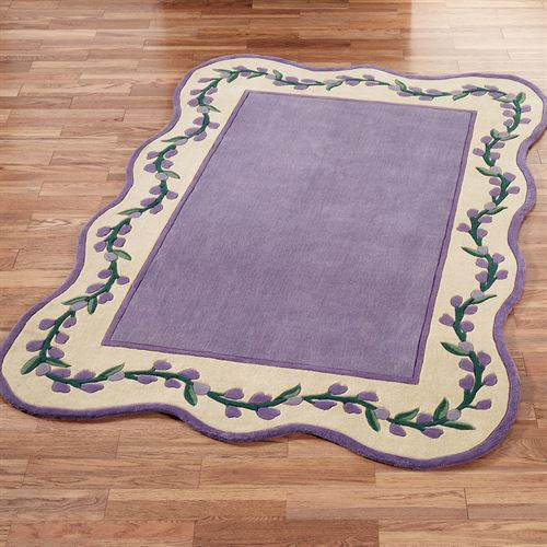 Wisteria Garden Rectangle Rug Iris