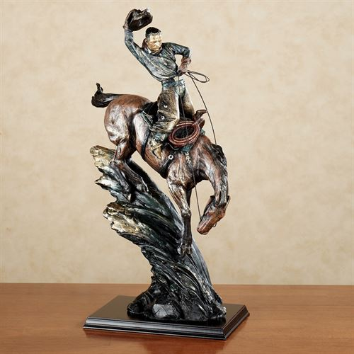 Breaking the Wild Sculpture Gold Silver Wash
