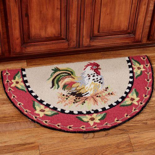 Sitting Pretty Rooster Slice Rug Multi Warm 34 x 20