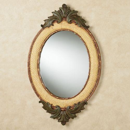 Bamboo Exotics Oval Wall Mirror Natural