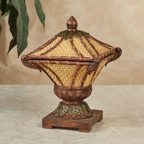 Bamboo Exotics Decorative Covered Box Natural