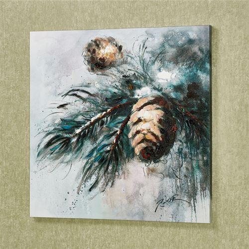 Woodland Beauty Pine Cone Canvas Wall Art