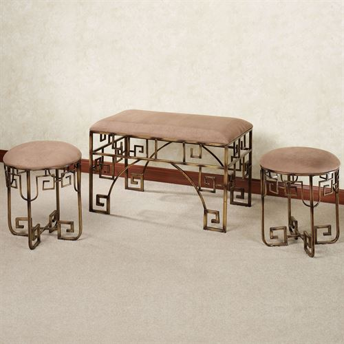 Kastoria Bench Set Gold Set of Three